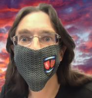 Maille (chainmail) Print Face Mask - Battle of Evesham Logo