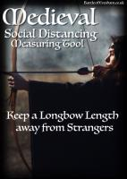 Medieval Lady Archer – Social Distancing Measuring Tool